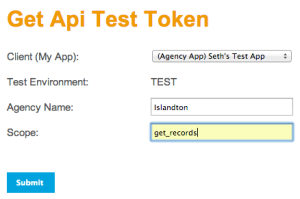 Get API Test Token